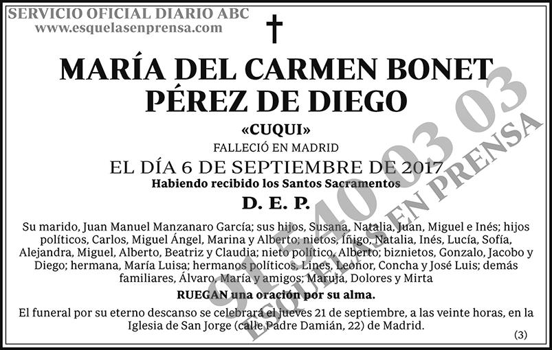 María del Carmen Bonet Pérez de Diego